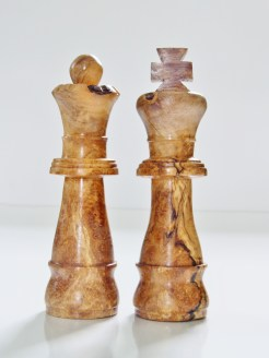 King and queen chess piece beer tap handle