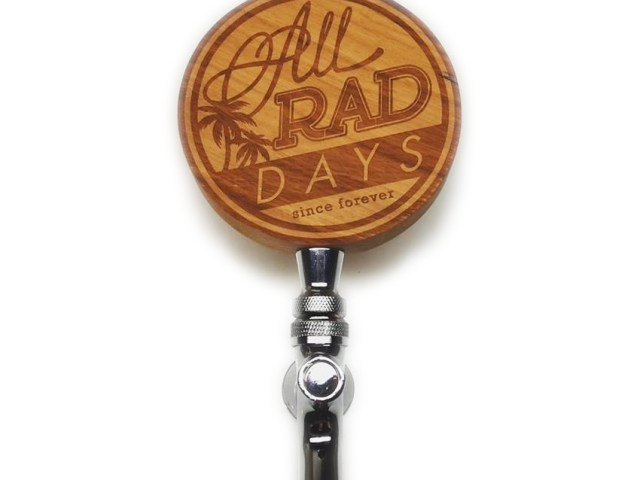 Cherry circle beer tap handle
