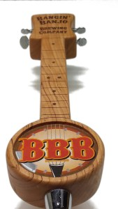 bangin banjo beer tap handle