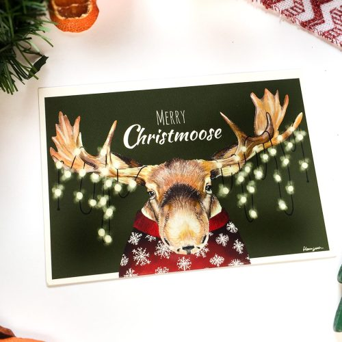 Merry Christmoose & Coloring Freebie