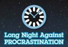 Wordmark: Long Night Against Procrastination