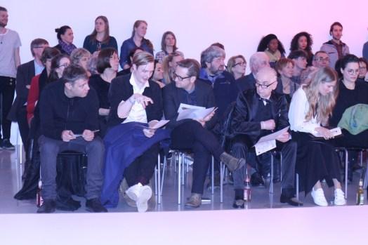 Die Jury (v.l.): Designer Daniel Blechman von Sopopular, Designer und Fahmoda-Absolvent Danny Reinke, Thomas Hill von René Lezard und VDMD-Präsident René Lang.
