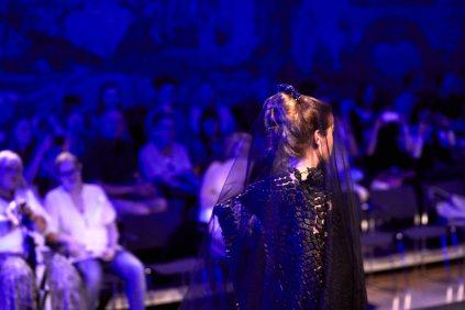 """Luisa Verfürths Lakritz Collection """"Jeanne Dark"""" beim F&D-Festival."""