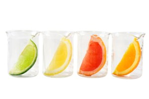 Food research - colorful citrus mix