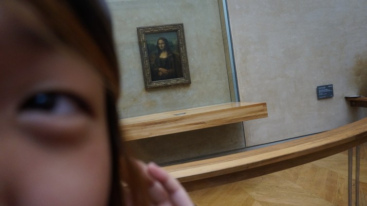 Selfie with the Mona Lisa