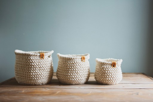 crochet basket, basket pattern, crochet home decor, home decor pattern