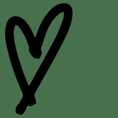 black drawn heart
