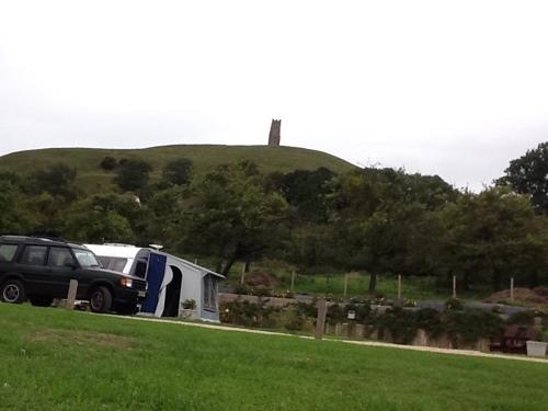 Glastonbury Tor from the Campsite