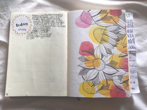 Bullet Journal Layout with Mrs Brimbles Patreon Collage Sheets