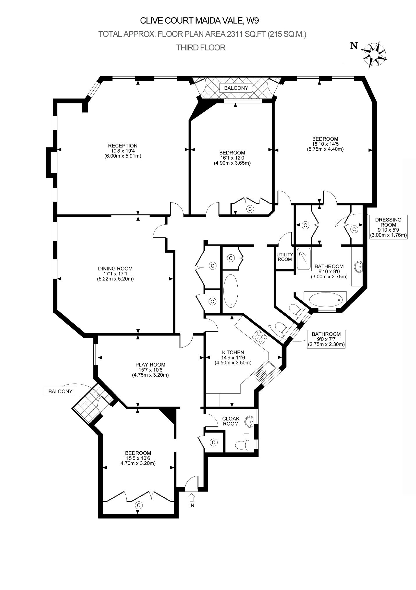 Flat For Sale In Clive Court London W9