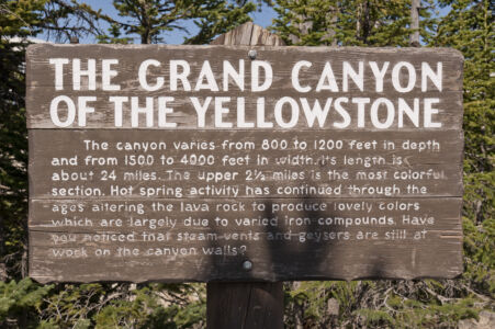 The Grant Canyon Of The Yellowstone