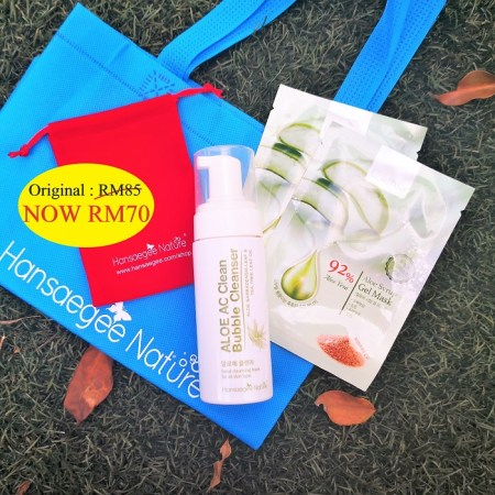 4. Combo Set = Cleanser + 2x Aloe Mask (FREE Recycle Bag + Pouch (Red))