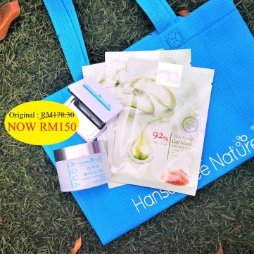 6. Combo Set = Aqua + 3x Aloe Mask (FREE Recycle Bag + Mirror).