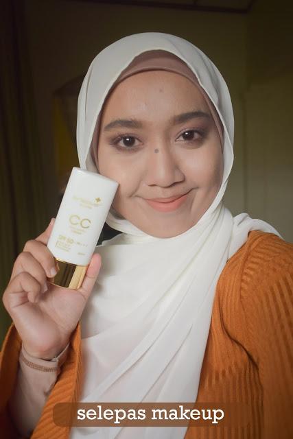Hasil make up selepas pakai CC Cream