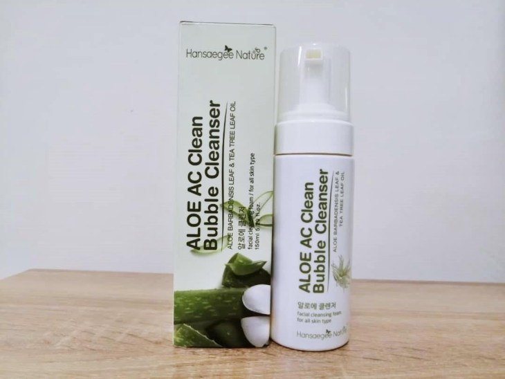 Packaging ALOE AC Clean Bubble Cleanser
