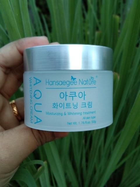 Pelembab Muka untuk Kulit Kering – Hansaegee Nature Aqua Whitening Cream (1)