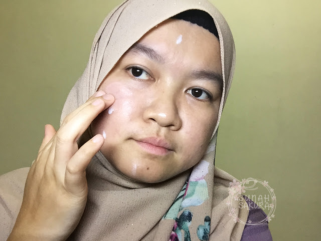 blend dengan jari gold nano cc cream hansaegee nature