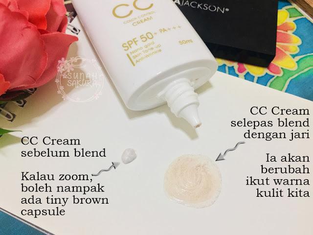 blending the gold nano cc cream hansaegee nature