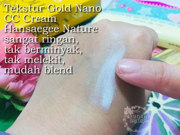 tekstur gold nano cc cream hansaegee nature