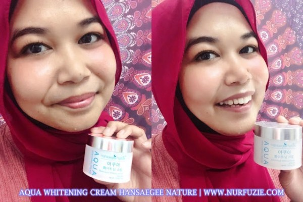 Aqua Whitening Cream Hansaegee Nature 5