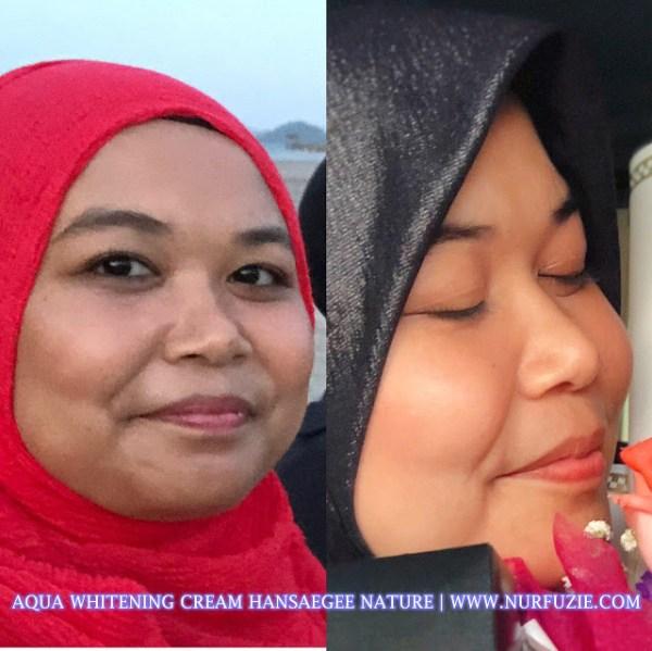 Kesan Aqua Whitening Cream (Pelembab) Moisturizer Water Based