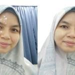 Sebelum dan selepas pakai CC Cream Berbeza kan