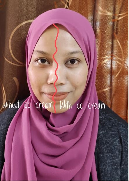 with CC Cream tu nampak glowing,cerah dan berseri 2
