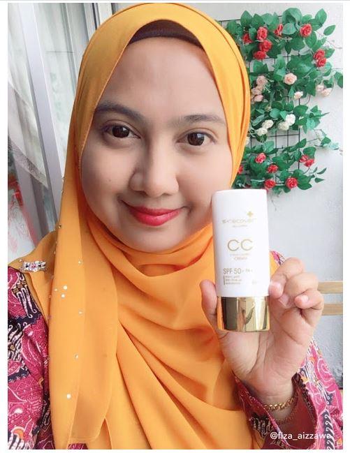 Gold Nano CC Cream buatkan kulit wajah Fiza cerah sekata