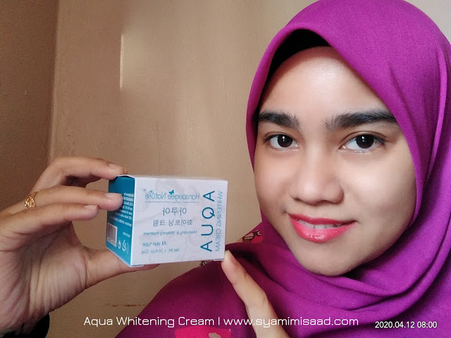 Aqua Whitening Cream dari Hansaegee Nature