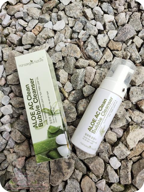 cuci kulit dengan Aloe AC Clean Bubble Cleanser
