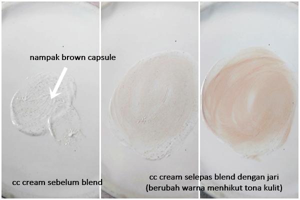 Gold Nano cc cream yang sekatakan tona kulit