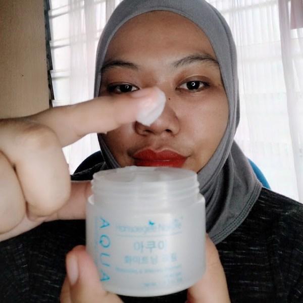 Testimoni syira menggunakan Aqua Whitening Cream