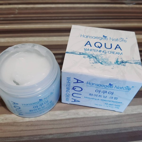 Aqua Whitening Cream Hansaegee Nature 2