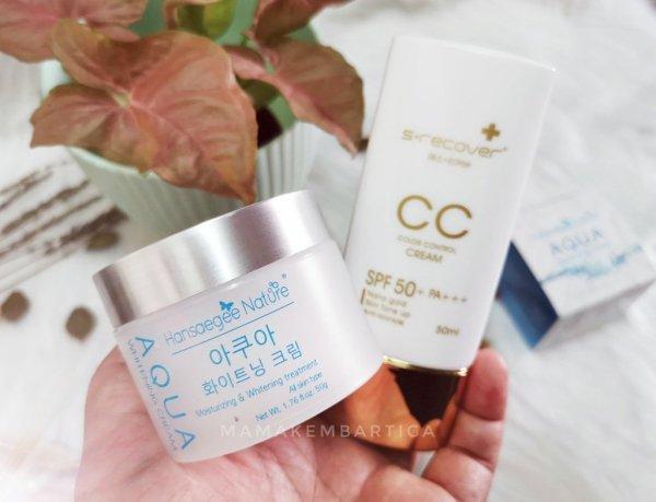 Gandingan serasi – Aqua Whitening Cream dan Gold Nano CC Cream
