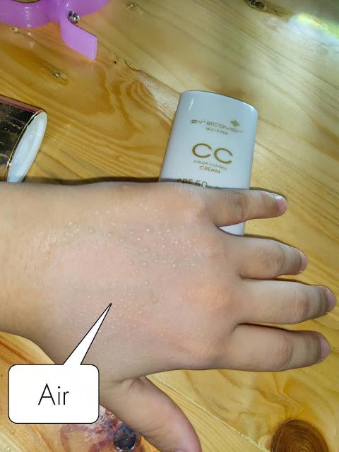 kulit tangan tu dan spraykan air