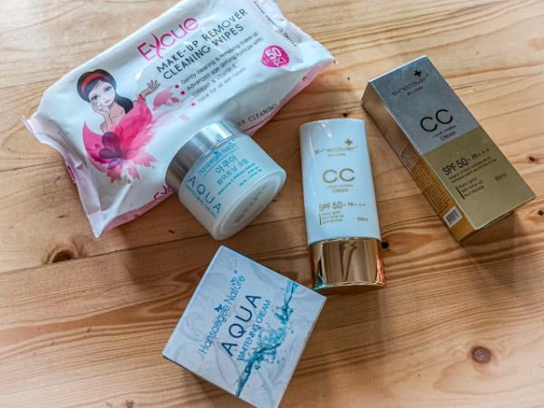 2 steps aqua cc dengan wet tisu makeup
