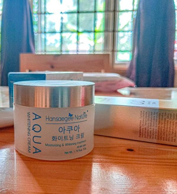 langkah pertama sapu aqua whitenig cream