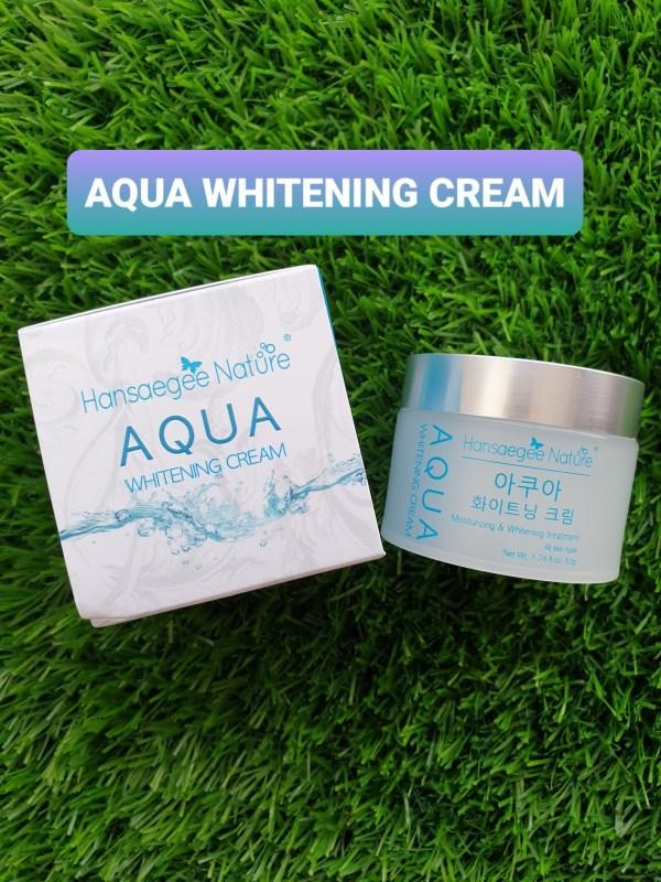 my aqua whitening cream