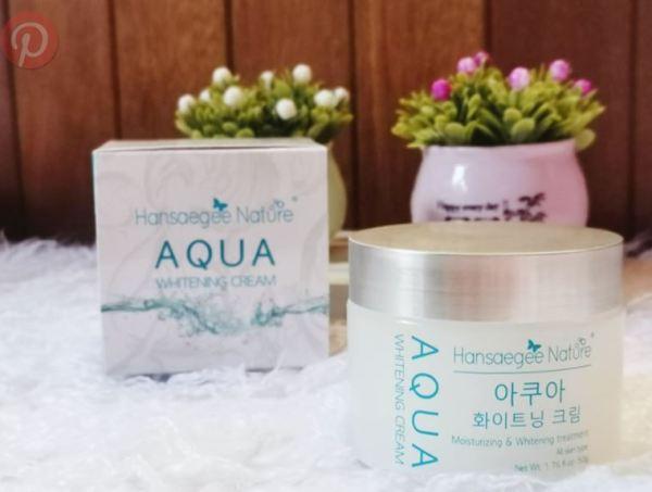 pelembap aqua whitening cream