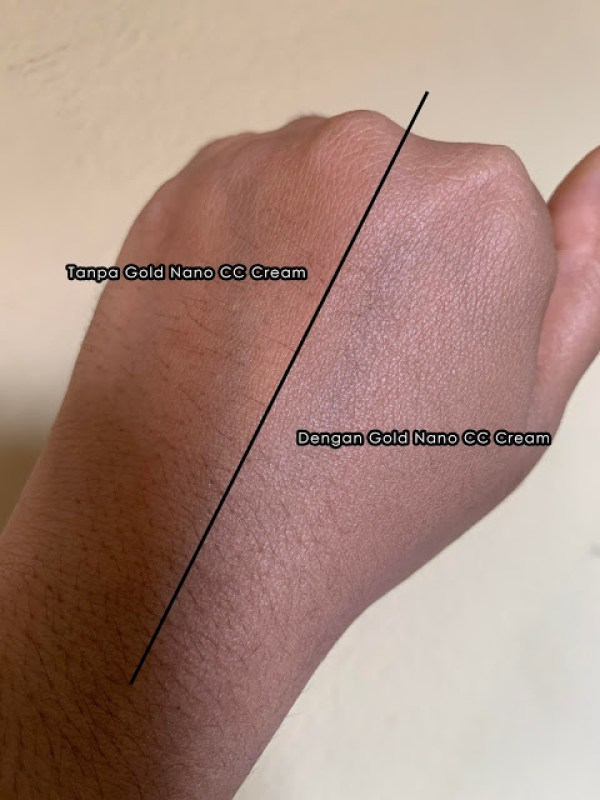 perbezaan selepas sapuan pada kulit tgn