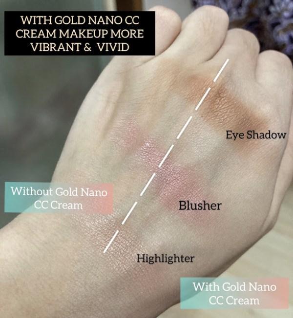 testing eyeshadow