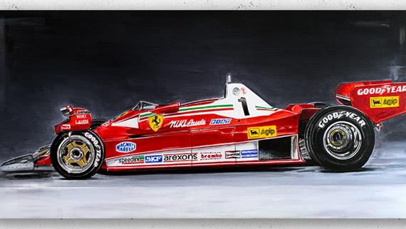 Niki Lauda Ferrari 312T2 F1 1976