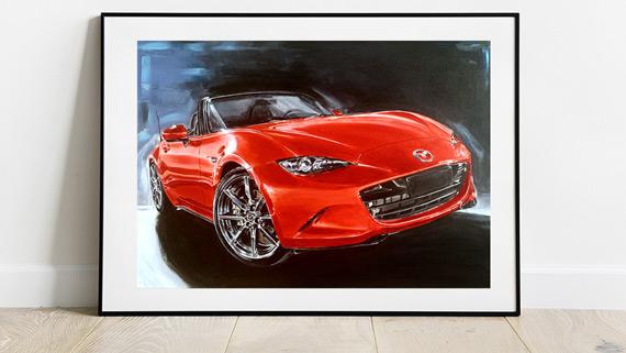 Mazda-MX5-ND-Artwork framed