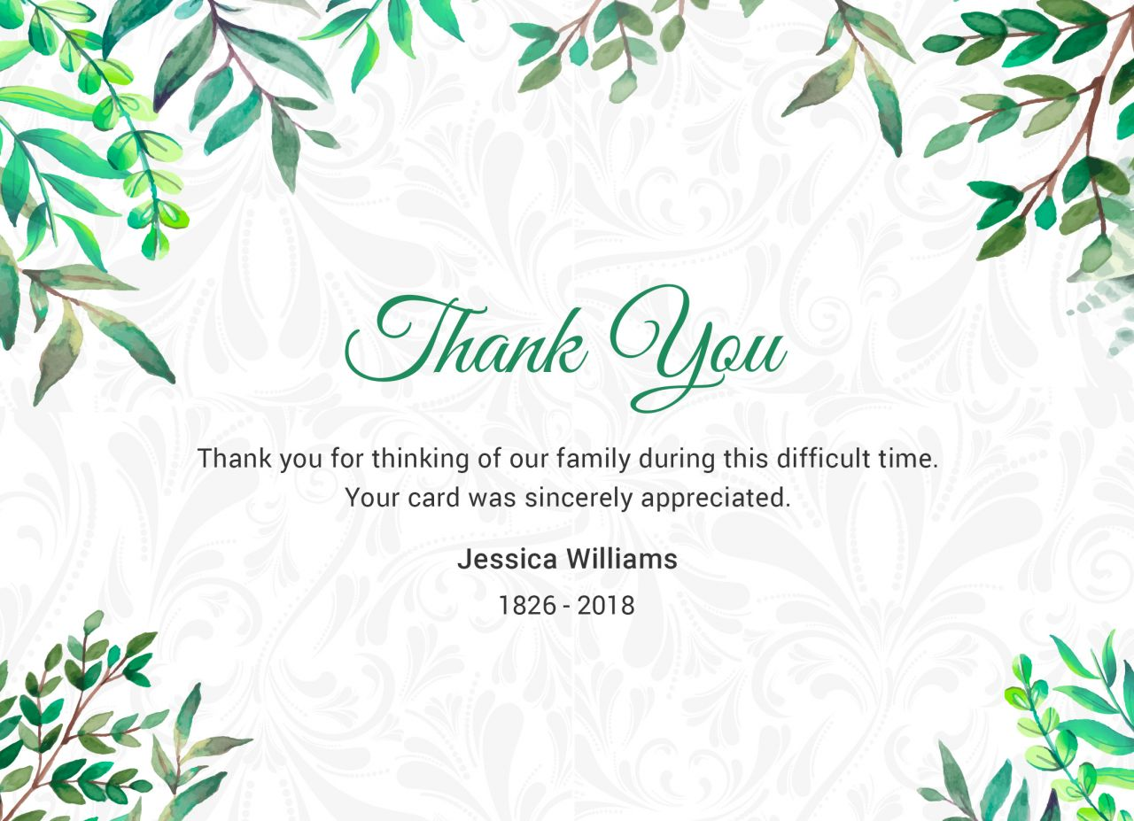 after the funeral - thank you notes