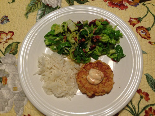 Crab Cake, Salad, and Rice | Hansen-Spear Funeral Home - Quincy, Illinois