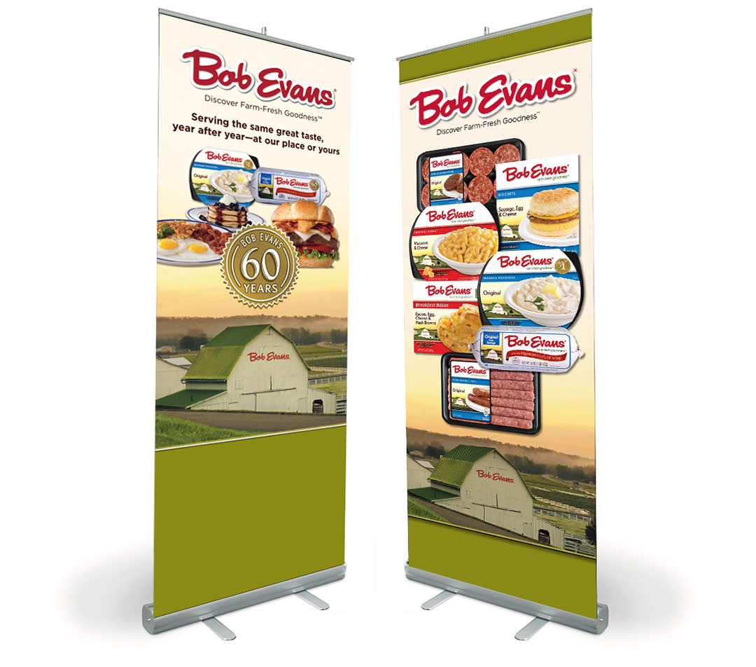 Bob Evans Tradeshow Banners