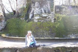 imitating the sculpture behind me :P