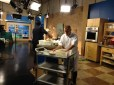 filming the cooking segment