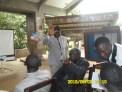 Dr Kingsley Ngange makes his arrival