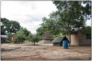 View from a tent, Luanyaker, South Sudan, 2006 :: copyright Richard Hanson